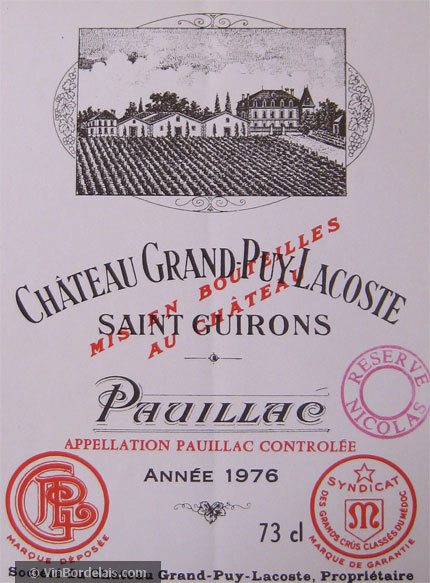 Château Grand-Puy-Lacoste (Pauillac)