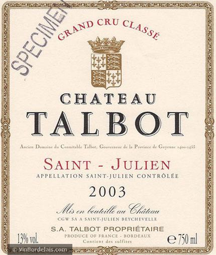 Château Talbot (Saint-Julien)